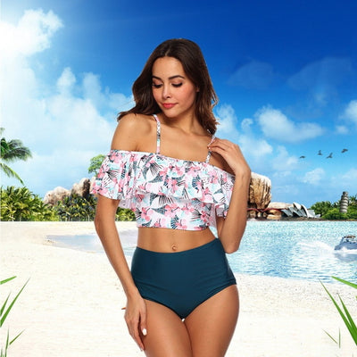 Swimwear Women Bikini 2019 Mujer High Waist Swimsuits Ruffles Bikinis Swimming Suit For Womens Tankinis Bathing Suits Biquini - Shopperstrail