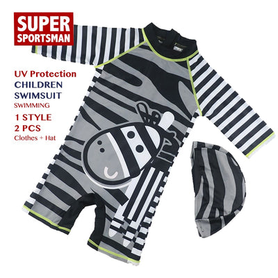 Summer 2019 Swimwear Kids Cartoon Fashion Swimming Beach Wear Children Animals Water Sports Swimsuit Baby Boy Swim Bathing Suits - Shopperstrail