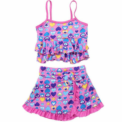 Two Pieces Girls Bikini Swimsuit for 2-14 Years