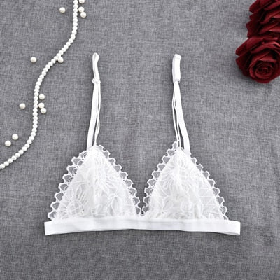 Sexy Lace Bra Thin Transpant Seamless Bra Unlined Lingerie Bralette Backless Bra for Women Underwear Intimates Brassiere Summer - Shopperstrail