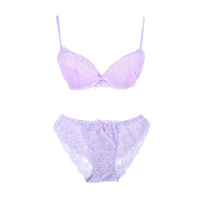 Sexy Women Embroidery Lace Floral Lingerie Underwear Push-Up Bra Set Panty - Shopperstrail