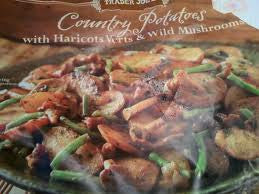 Trader Joe's Country Potatoes (w/Haricots Verts and Wild Mushrooms, Frozen)