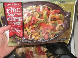 Trader Joe's Fire Roasted Bell Pepper and Onions (Frozen)