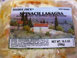 Trader Joe's Spinach Lasagna (Frozen)