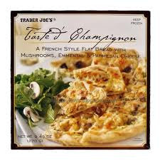 Trader Joe's Tarte aux Champignons (French Style Flat Bread w/ Mushrooms, Emmental and Parmesan Cheese, Frozen)