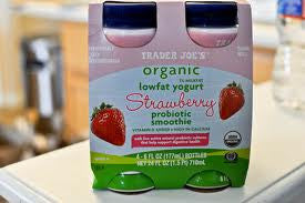 Trader Joe's Organic Probiotic Low Fat Smoothie (Strawberry, 4 Count)