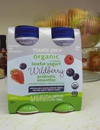 Trader Joe's Organic Probiotic Low Fat Smoothie (Wild Berry, 4 Count)