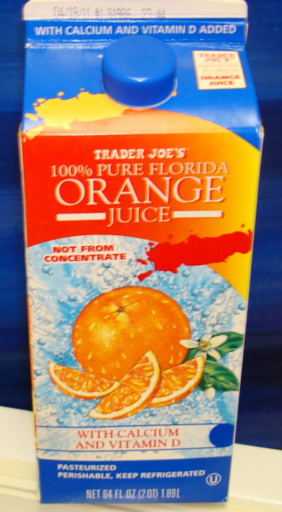 Trader Joe's 100% Pure Florida Orange Juice (w/ Calcium and Vitamin D)