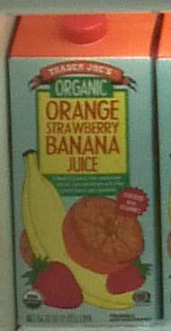 Trader Joe's Organic Orange Strawberry Banana Juice