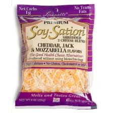 Trader Joe's Premium Soy-Sation Shredded Cheese Blend (Cheddar, Jack, and Mozzarella Flavors)