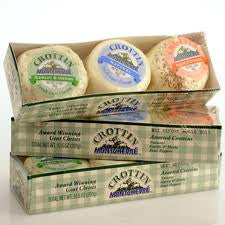 Crottin Goat Cheese 3 Flavor Pack (Natural, Garlic and Herb, Four Pepper)