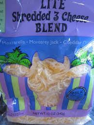 Trader Joe's Lite Shredded 3 Cheese Blend (Mozzarella, Monterey Jack, and Cheddar)