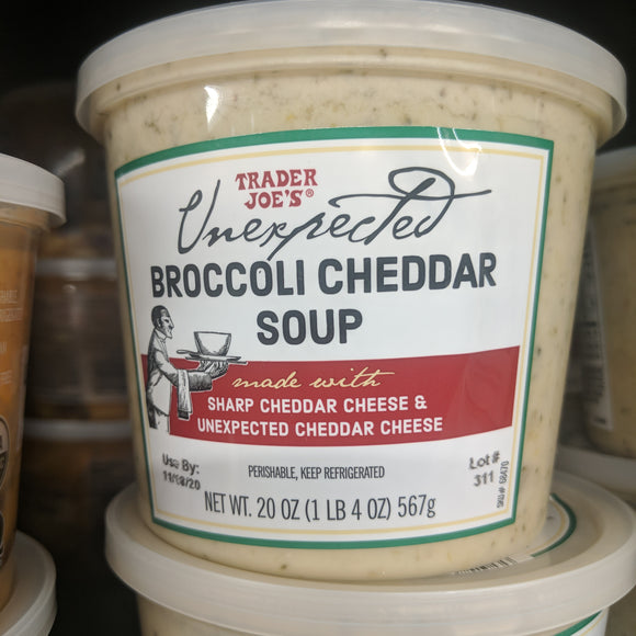 Trader Joe's Unexpected Broccoli Cheddar Soup (Refrigerated)