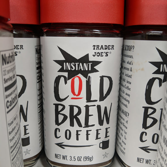 Trader Joe's Instant Cold Brew Coffee