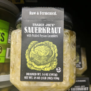 Trader Joe's Sauerkraut (with Pickled Persian Cucumbers)