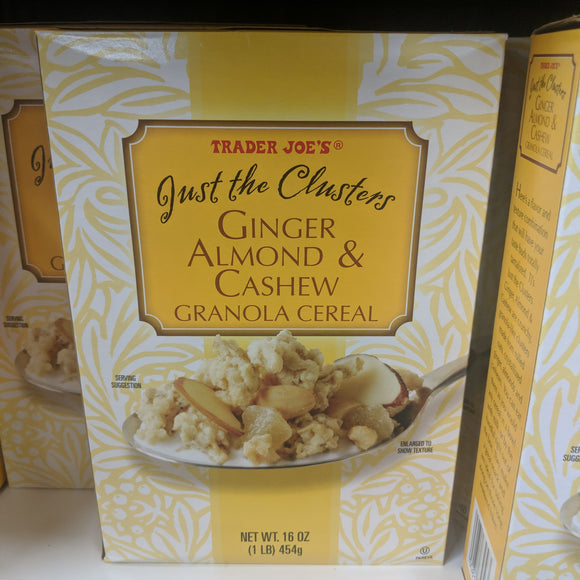 Trader Joe's Just the Clusters Ginger, Almond and Cashew Granola