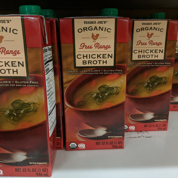 Trader Joe's Free Range Chicken Broth (Fat Free)