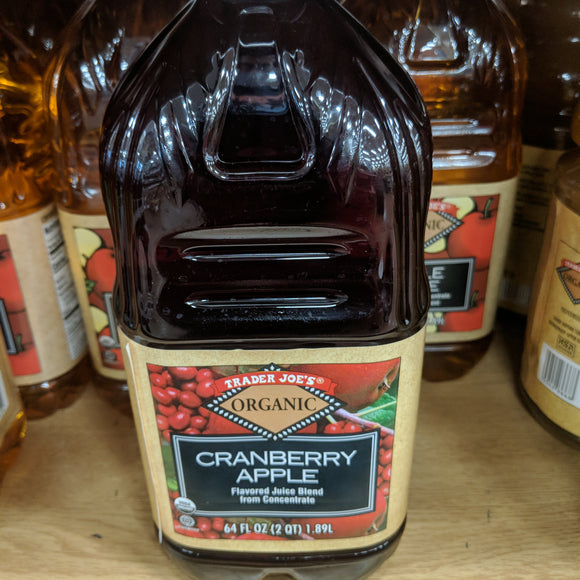 Trader Joe's Organic Cranberry Apple Juice