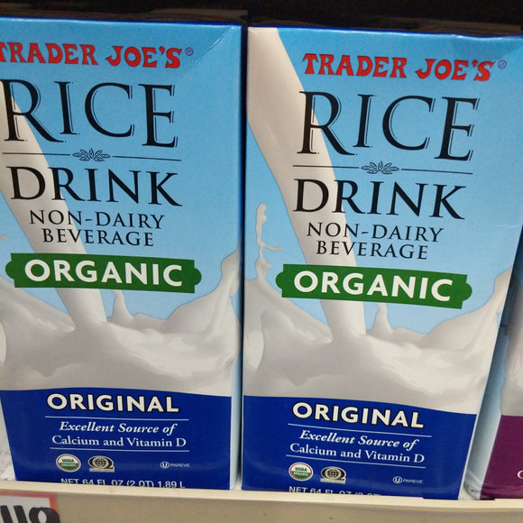 Trader Joe's Organic Rice Drink (Unsweetened, Original)