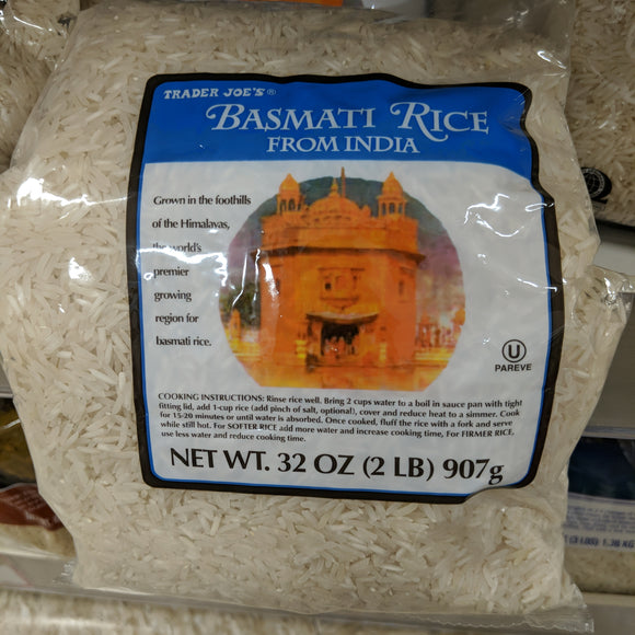 Trader Joe's White Basmati Rice