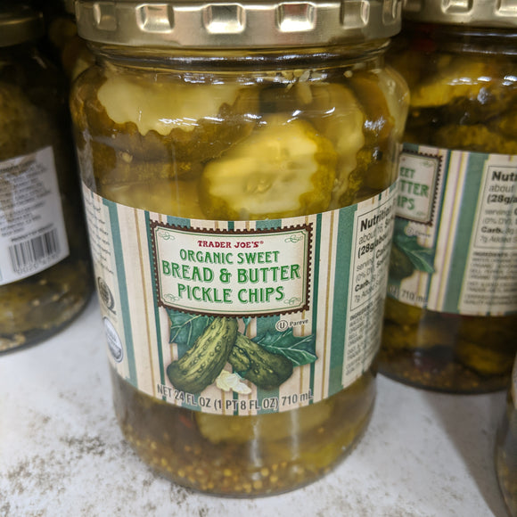 Trader Joe's Organic Sweet Bread and Butter Pickles