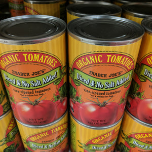 Trader Joe's Organic Tomatoes (Diced in Tomato Juice)