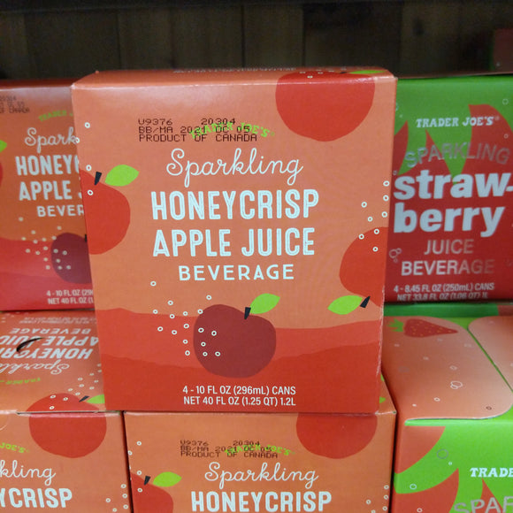 Trader Joe's Sparkling Honeycrisp Apple Juice (4 pack)