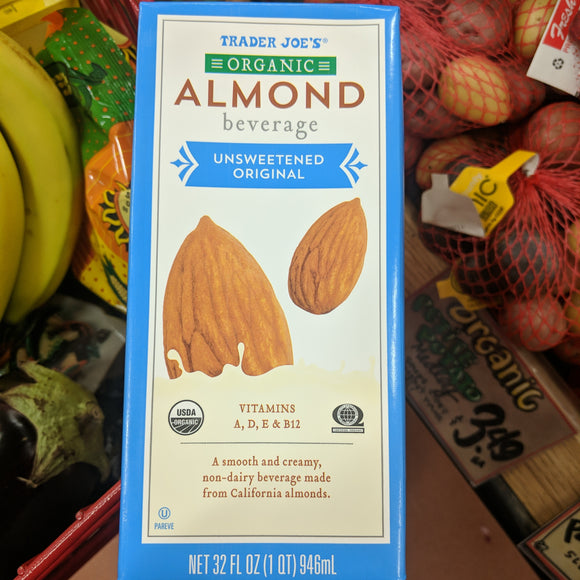 Copy of Trader Joe's Organic Almond Smooth Non-Dairy Beverage (Original, Unsweetened)