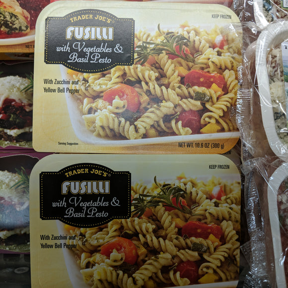 Trader Joe's Fusilli (With Vegatables and Basil Pesto) (With Zucchini and Yellow Bell Peppers)