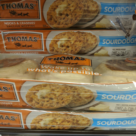 Thomas Sourdough English Muffins 6 Pack