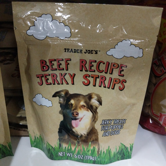 Trader Joe's Beef Recipe Jerky Strips (For Dogs!)