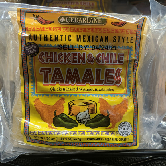 Trader Joe's Chicken and Chile Tamales (Gluten Free)