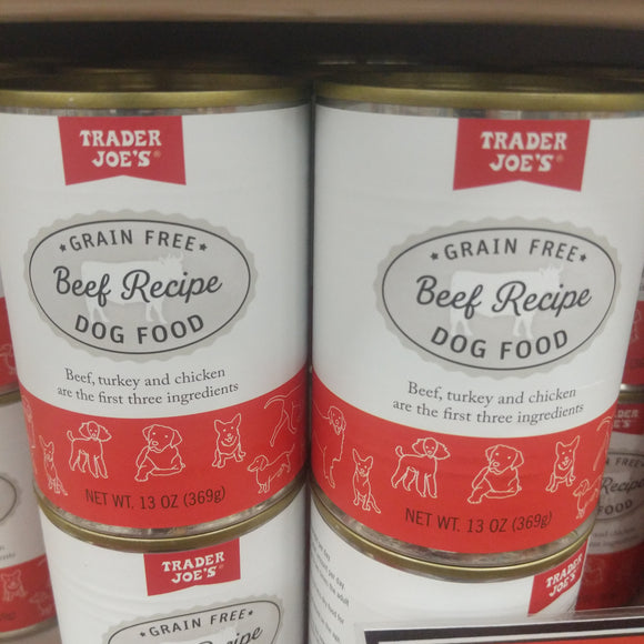 Trader Joe's Canned Grain Free Beef Dinner (For Dogs!)
