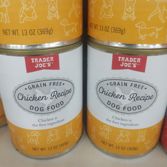 Trader Joe's Canned Grain Free Chicken Dinner (For Dogs!)