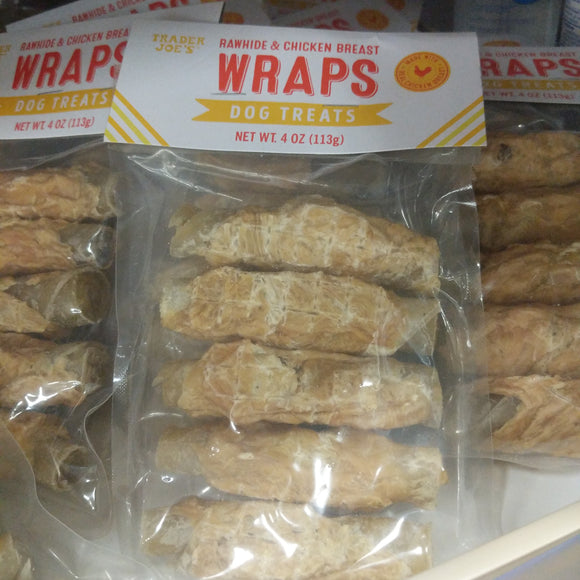Trader Joe's Rawhide and Chicken Breast Wrap Dog Treats (For Dogs!)