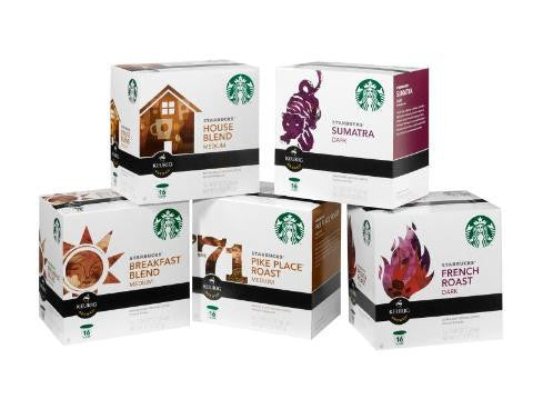 Starbucks Coffee Pods K Cup Dark French Roast