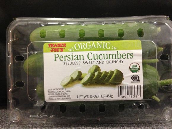 Trader Joe's Organic Persian Cucumbers