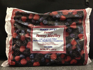 Trader Joe's Fancy Berry Medley (Blueberries, Blackberries, and Raspberries) (Frozen)