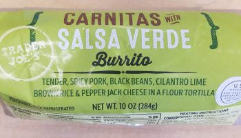 Trader Joe's Pork Carnitas Burrito
