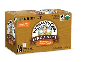 Newmans Organics Coffee Pods K Cups Decaf Blend