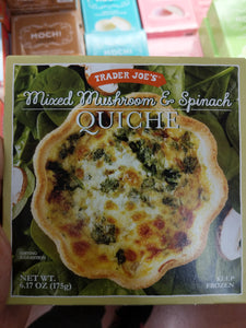 Trader Joe's Quiche (Mixed Mushroom and Spinach)