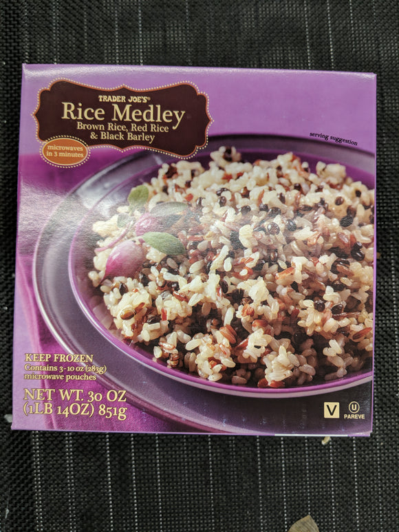 Trader Joe's Vegan Rice Medley (Brown Rice, Red Rice, Black Barley)