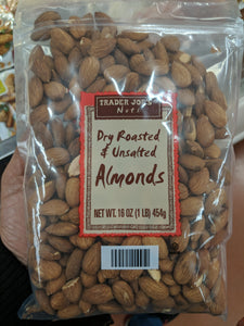 Trader Joe's Dry Roasted and Unsalted Almonds
