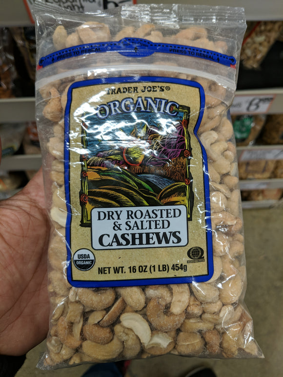 Trader Joe's Organic Dry Roasted and Salted Cashews