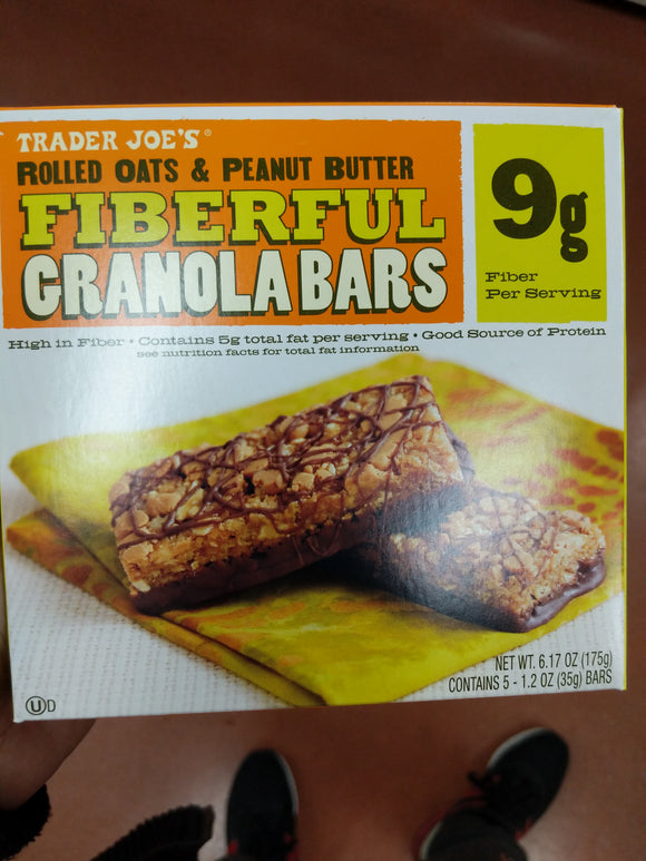Trader Joe's Fiberful Rolled Oats and Peanut Butter Granola Bars