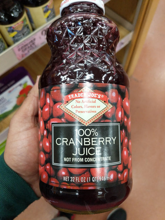 Trader Joe's 100% Cranberry Juice