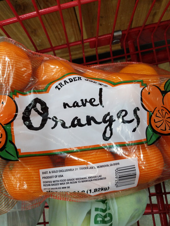 Trader Joe's Bag of Navel Oranges