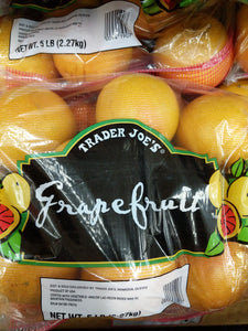 Trader Joe's Bag of Ruby Red Grapefruit