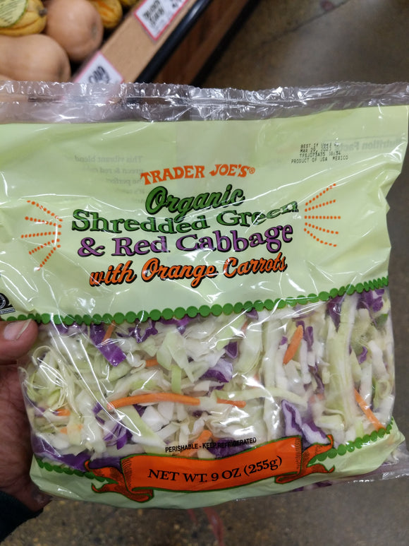 Trader Joe's Organic Shredded Green and Red Cabbage