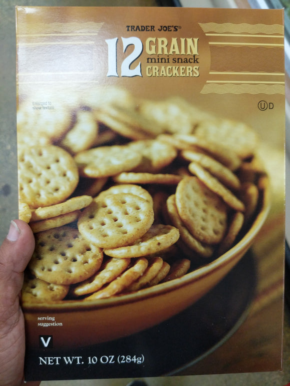 Trader Joe's 12 Grain Mini Snack Crackers